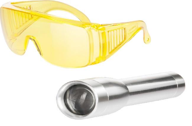 Komplet UV svetilka z nastavljivim fokusom, zaščitna očala in kovček, ADJUSTABLE FOCUS BRIGHT TORCH
