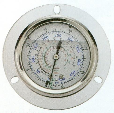 Vgradni oljni manometer za nizek tlak, za hladilna sredstva R410A, R407C, R134A, R22