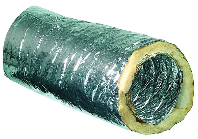 ALU izolirana fleksibilna cev za prezračevanje ISO Superflex  Φ102, 10m