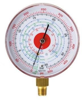 Suhi manometer za visok tlak, za hladilna sredstva R410A, R407C, R134A, R22