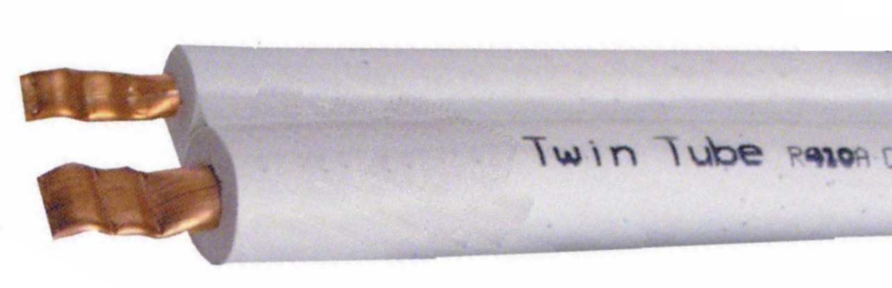 Dvojna izolirana bakrena cev 1/4'' (6,35 mm) + 3/8'' (9,52 mm), 20 m